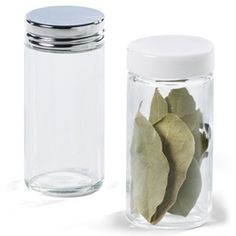 The Container Store > 3 oz. Glass Spice Bottle - for spices in the kitchen, beads in the craft room...