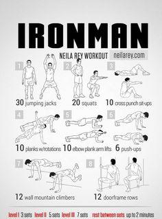 Super hero workout _Ironman