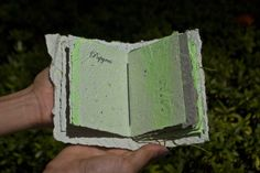 The Bookof Paper artistic book  This piece was made as a part of my paper making class. A true wonder of a paper book. It is now part of the rare collection in the University of Rio Piedras