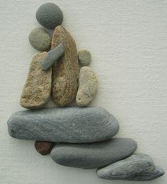 Pebble Art: Pebbles on canvas