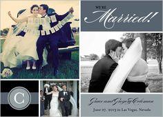 Black Tie Optional Wedding Announcement