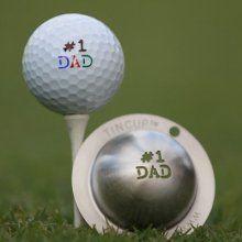 No 1 Dad Tin Cup Golf Stencil