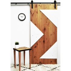 Shop for Dogberry Zig Zag 36 x 82 inch Barn Door with Sliding Hardware System…