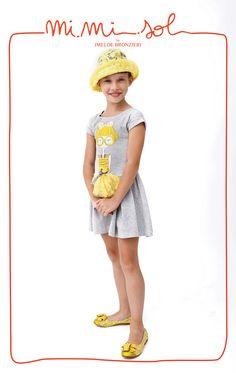 Big Yellow Sequin Glasses printed on a very simple Jersey Little Dress.  #mimisol #childrenswear #kidswear #children #kids #fashion #clothing #littlegirls #littledress #dress #jersey #jerseydress #MiMiSol #Mimisol #sequin #ss13 #spring #summer