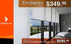 ¡Hoy es viernes de www.cortinas.com! Tenemos cortinas enrollables desde $349.00 pesos #ViewLovers