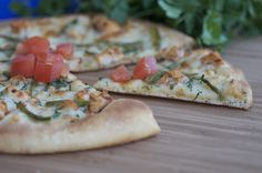 Pizza with Grilled Chicken | I'm sharing my pizza recipe with you today.  This same recipe can be used for Pollo Asado Tacos.  The chicken is a little spicy so, the packaged Hot Roll Mix works really well as the dough has a slight sweetness. | From: everydaysouthwest.com