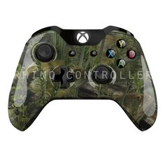 Custom XBOX One controller Wireless Glossy WTP-442-Fishouflage-Bass Custom Painted- Without Mods