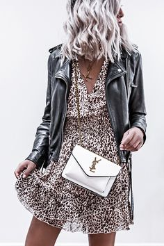 so you think you can play with the big cats Motif Leopard, Wild Tiger, Ysl Bag, Leopard Dress, Leather Dresses, Big Cats, Cat Day, Thinking Of You, Leather Jacket