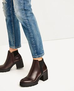 915de3bd5f Image 6 of TRACK SOLE HEELED ANKLE BOOTS from Zara Zara Ankle Boots, Ankle  Booties