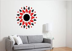 SRGindia Sunshine with Butterfly' Wall Sticker (Vinyl, 18 cm x 19 cm x 5 cm, Red and Black) Wall Decor Stickers, Butterfly Wall Stickers, 3d Mirror, Red Black, Sunshine, India, Wall Art, Interior Design, Home Decor
