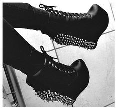 Jeffery Campbell Lita Spike Wedge Boots. Omg I neeeed theessee
