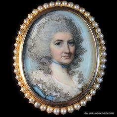 ENGLEHEART George (1750-1829), PORTRAIT MINIATURE DE DAME, VERS 1780
