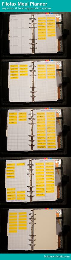 Filofax Menu Planning by Britta Swiderski