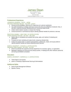 Example Of Mid Level Reverse Chronological Resume Download For Free At  Http://