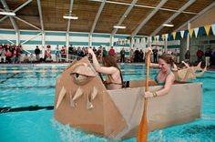 AP Physics at my school has cardboard boat races every year. I present to you, THE KRACKEN! - I want to try this
