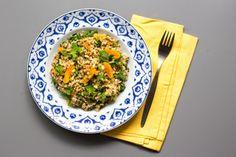 Quinoa cu caise uscate si seminte de pin - Chez Mazilique