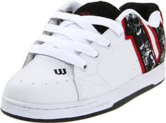 World Industries Showcase Skate Shoe (Little Kid/Big Kid) World Industries. $20.82. Made in China. Graphic applications. Rubber sole. Quilted liner. Wood sole. Nubuck Leather. Embroidered logoing. Leather pinking
