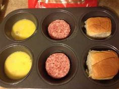 Check out our King's Hawaiian breakfast slider recipe. It so easy and so good. Just uses a muffin pan, egg, cheese, sausage, and King's hawaiian rolls. Grill Breakfast, Breakfast Slider, Breakfast Sandwich Recipes, Breakfast For Dinner, Breakfast Ideas, Hawaiian Buns, King Hawaiian Rolls, Kings Hawaiian, Slider Sandwiches