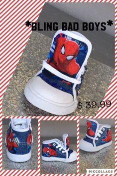 a4b37208c Spiderman  Spiderman Kicks Spiderman Sneakers Spiderman Bling Spiderman  Inspired Spiderman Inspired  Spiderman Shoes Boys Spiderman Bling
