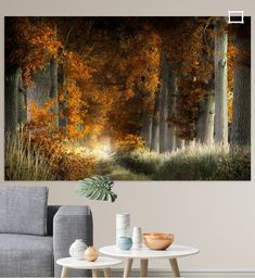 Nederlands Herfst Bos Warm, Canvas, Prints, Poster, Painting, Tela, Paintings, Posters, Canvases