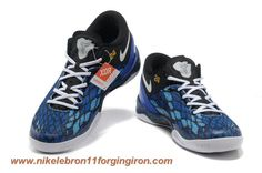 555035 200 Year Of The Snake Black Blue Nike Kobe 8 System iD Sale