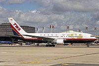 TWA's last livery.  I miss TWA...