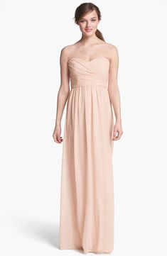8e1b48307ae Monique Lhuillier Strapless Ruched Chiffon Sweetheart Gown Size 10  175 NWT   MoniqueLhuillier  Formal