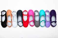 Linge colored ballet shoes
