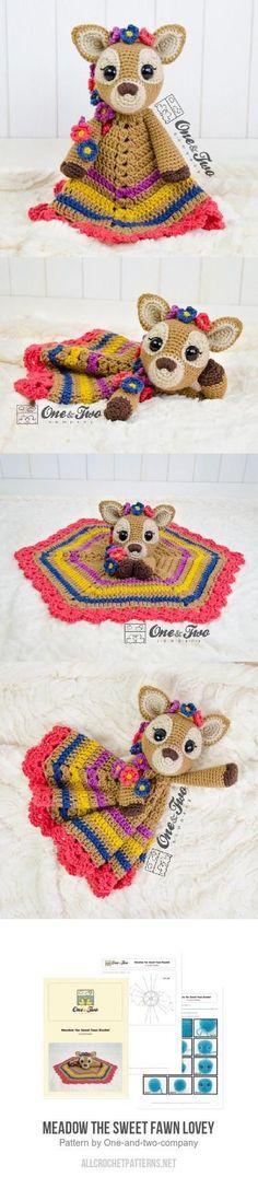 Meadow the Sweet Fawn Lovey crochet pattern