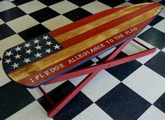 vintage wooden ironing board - I have one of these that I would love to paint like this :)