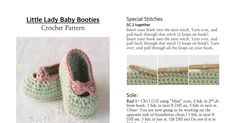 Little Lady Baby Booties Crochet Pattern.pdf
