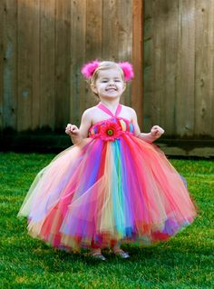 Custom Listing for Alicia - Rainbow Bright Tutu Dress - for Weddings, Birthdays, Pageants and more. $72.00, via Etsy.