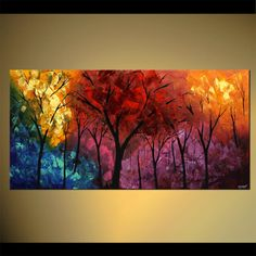 Buy beautiful landscape paintings, modern landscape paintings, canvas art and contemporary artworks. Colorful paintings of forests, trees, cloudy skies and other modern art. Choose your favorite landscape painting. Abstract Landscape Painting, Landscape Paintings, Abstract Art, Art Paintings, Abstract Paintings, Art Original, Abstract Photography, Art Plastique, Tree Art