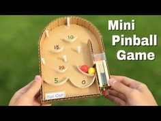how to make a pinball machine with cardboard at home Games For Kids, Diy For Kids, Crafts For Kids, Bug Activities, Mini Arcade, Cardboard Crafts, Diy Games, Paper Toys, Diy Toys