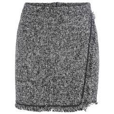 SheIn(sheinside) Grey Fringe Bodycon Skirt