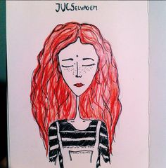 "the first version, ""ju"" #art #illustration #drawing #draw"