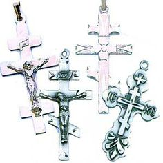 crucifix and monograms