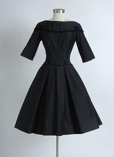 HEMLOCK VINTAGE CLOTHING : 1950's Rudolf Wool and Silk Dress