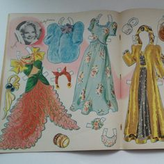 Vintage, Rare, and Collectible! This 1940 Sonja Henie Paperdoll Book has hit the shop!