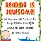Reading Comprehension - 51 pages - Use this pack help your students master the Common Core standards. You may use this to any book/ text. 35 reprod...