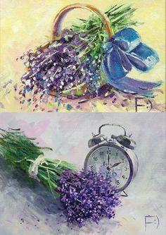 Lavendar Painting, Lavender Cottage, Decoupage Printables, Flora Flowers, Still Life, Cross Stitch Patterns, Purple, Periwinkle, Floral Prints