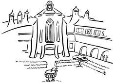 Pèlerins | Notre dame de l'abbaye Carcassonne, 23 mn de la gare Carcassonne, Arabic Calligraphy, Train Station, Arabic Calligraphy Art