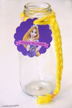 Rapunzel Birthday Party | Free Printables | Disney Princess Party | Made with HAPPY for MyPrintly