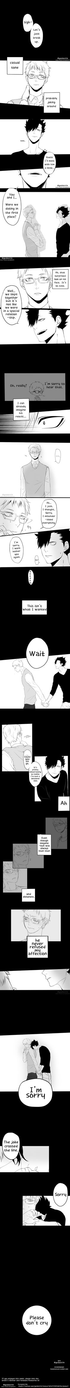 Break Up - KuroTsuki / Kuroo x Tsukishima - 全知全能, Artist: @gkdlzb1234 posted via twitter Translator:...