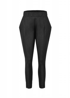 lous spodnie echo czarne basic casual