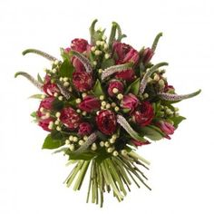 Ranuncula Roses, Pink Tulips and Pink Veronica