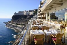 *Main Restaurant of Gloria Palace Amadores with the best view* Restaurante principal de Gloria Palace Amadores con la mejor vista. #Restaurant #niceview #GloriaPalaceAmadores