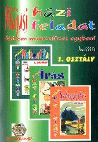 alexandra.hu | Májusi házi feladat 1. osztály - Három munkafüzet egyben! - Matematika - Írás - Szövegértés