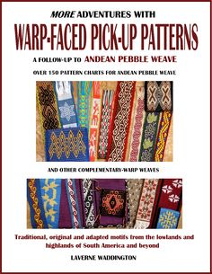 Andean Pebble Weave on Inkle Looms Laverne Waddington Inkle Weaving, Inkle Loom, Card Weaving, Tablet Weaving, Weaving Designs, Weaving Projects, Weaving Patterns, Weaving Textiles, Up Book