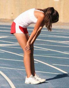 Preventing side cramps while running. This is a GREAT site! Lots of tips that I NEED! How to breathe when running, a good warm up before running.